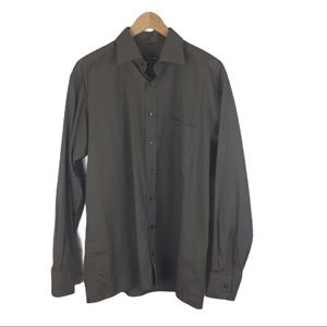 SALE Eterna Blackline gray/brown shirt